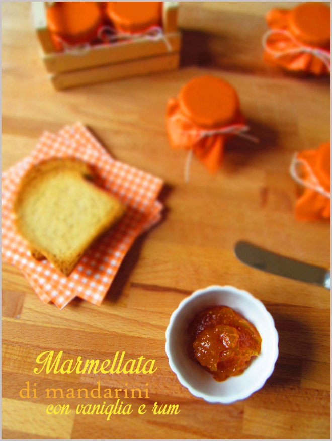Marmellata di mandarini con vaniglia e rum