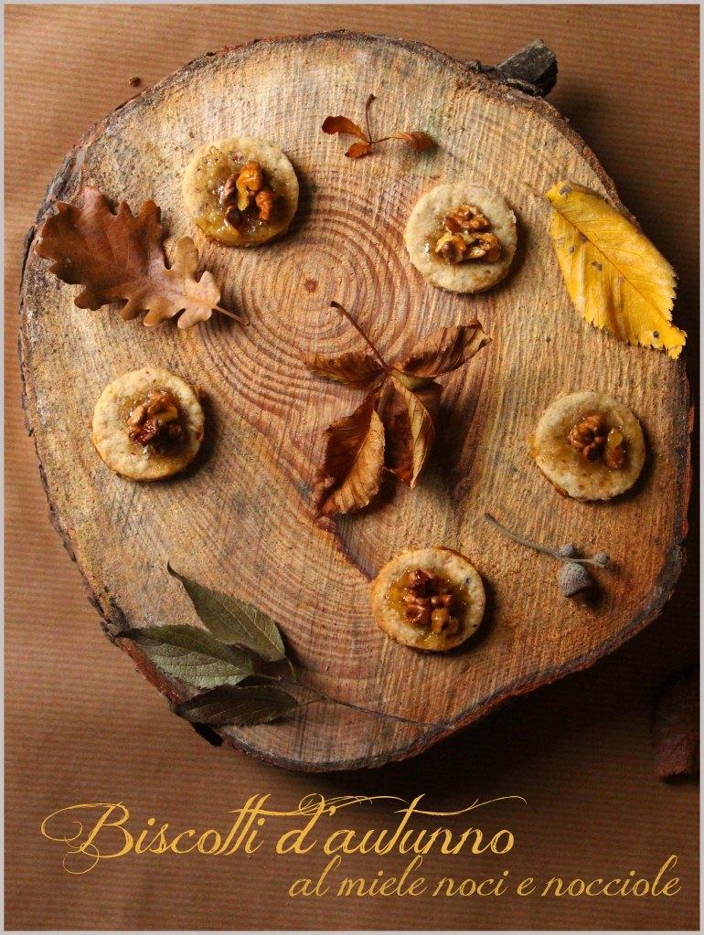 biscotti d'autunno con noci e nocciole
