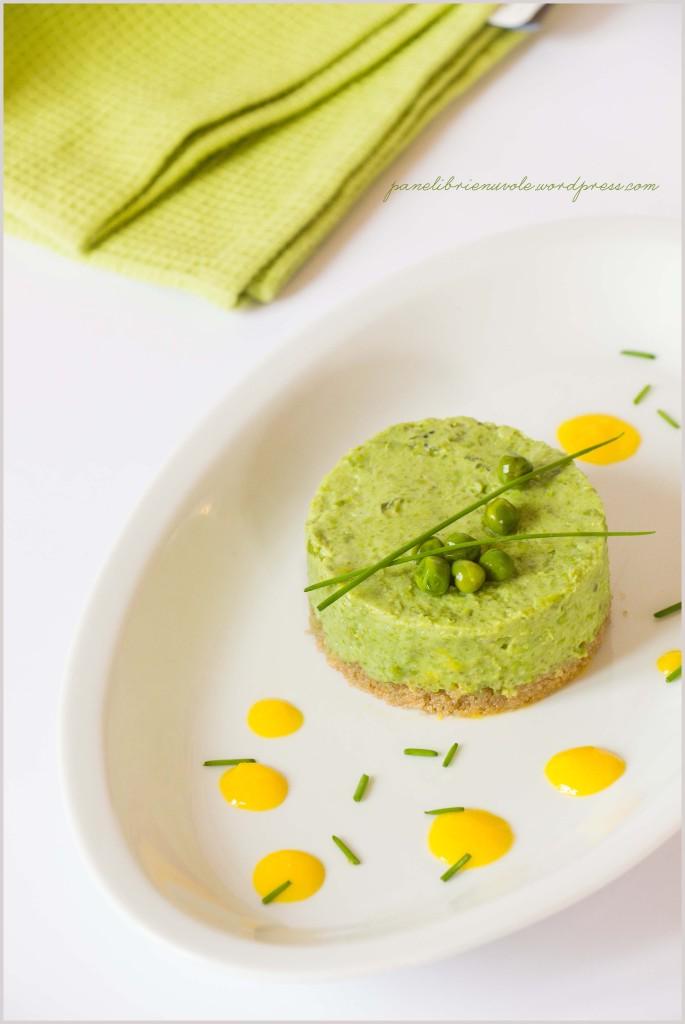 cheesecake di piselli e amaranto con zabaione al parmigiano-3