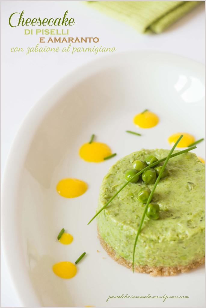 cheesecake di piselli e amaranto con zabaione al parmigiano-5