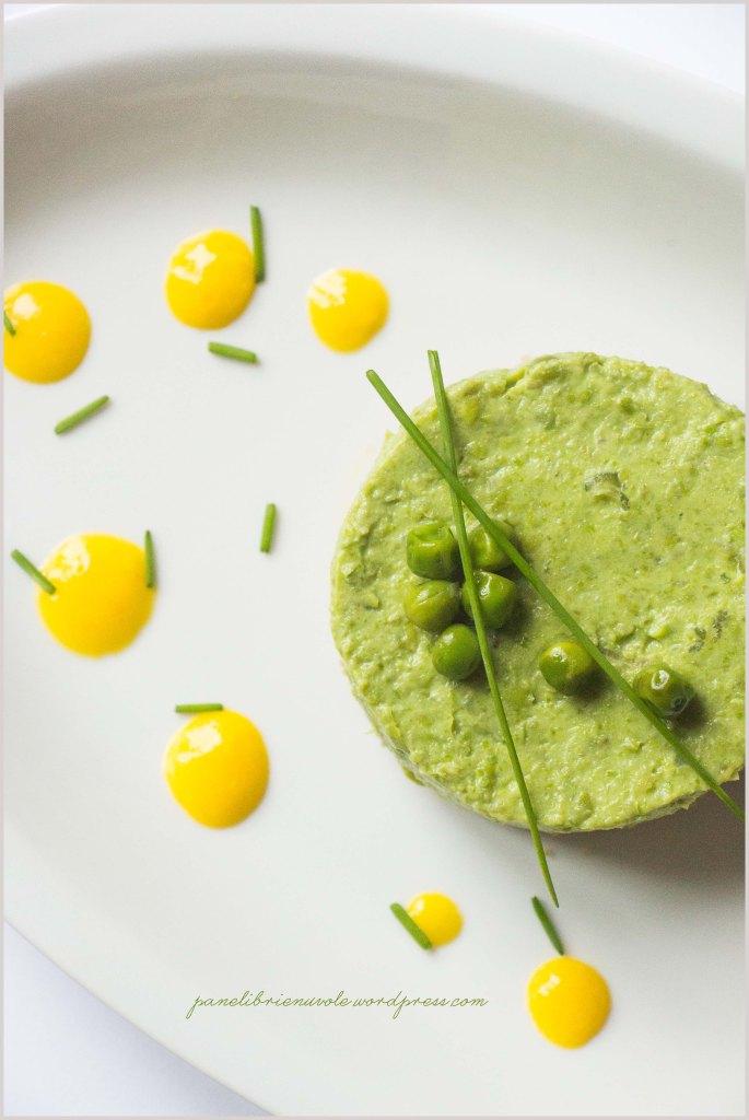 cheesecake di piselli e amaranto con zabaione al parmigiano-6