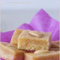 Basbousa - Dolcetti arabi di semolino, mandorle e acqua di rose