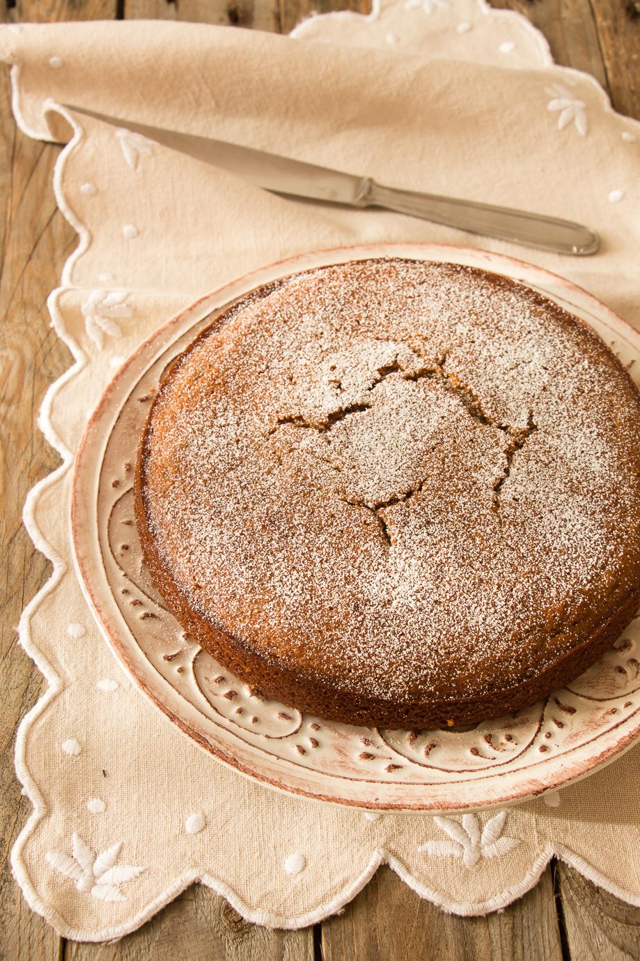 torta con farina di castagne e clementine-1