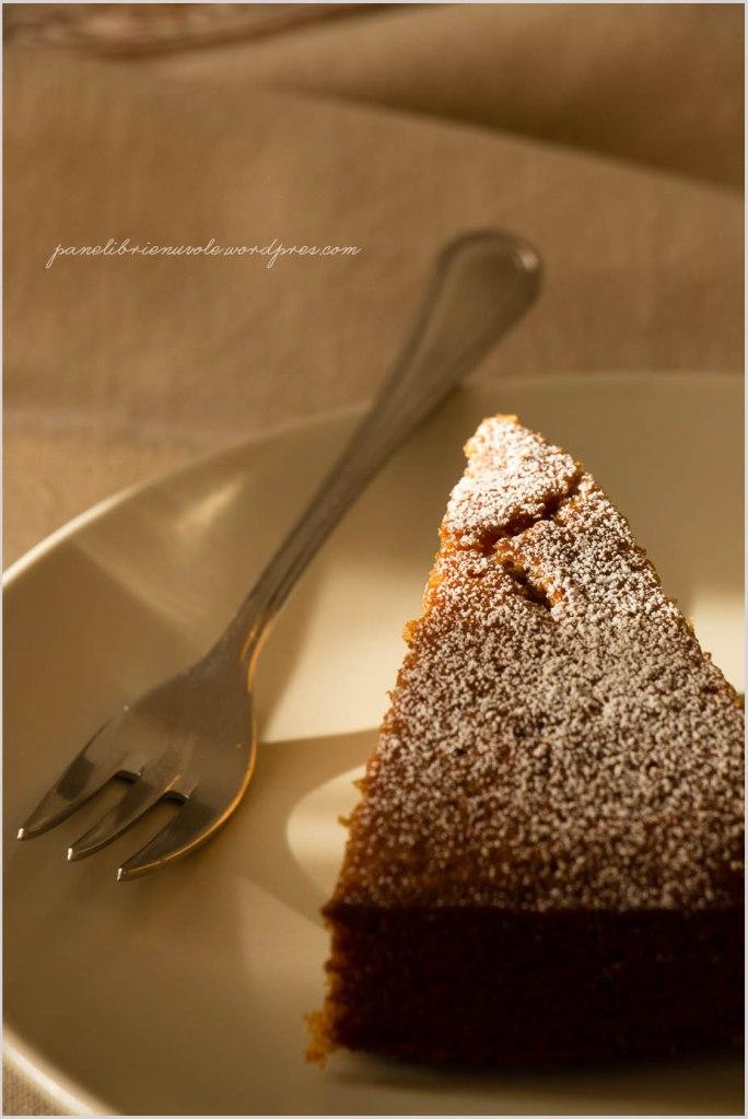 torta con farina di castagne e clementine-4