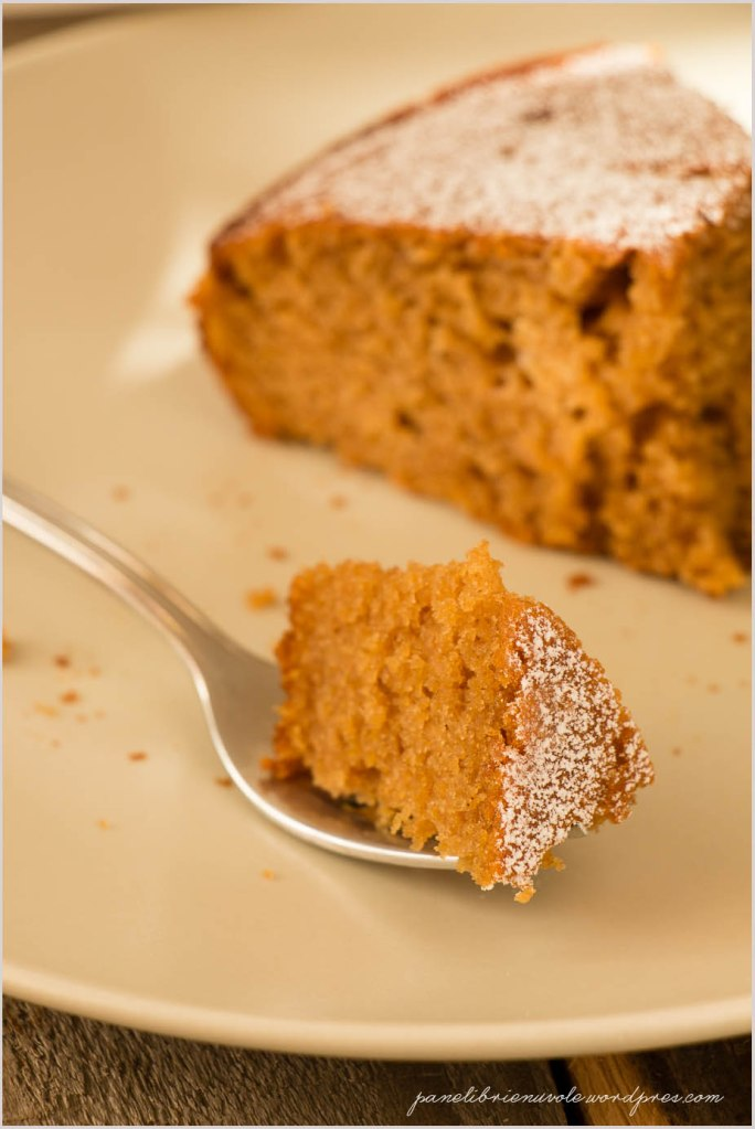 torta con farina di castagne e clementine-7